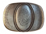 38mm 'Antique Silver' Belt Buckle. Code LPR005